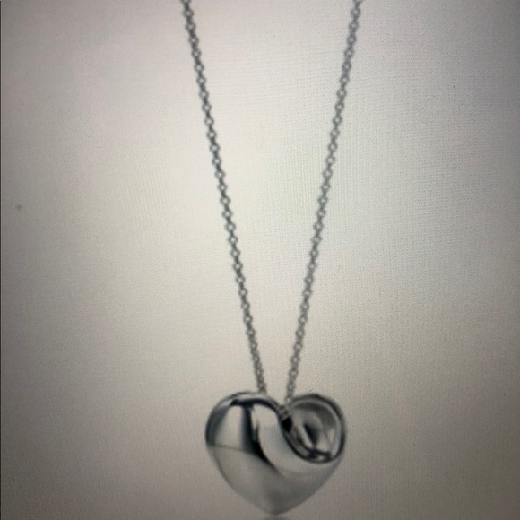 97128b8a3 Tiffany & Co. Jewelry | Tiffany Full Heart Sterling Necklace Elsa ...